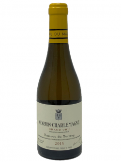 A bottle of 2015 Domaine Bonneau du Martray Corton-Charlemagne (375 ml).