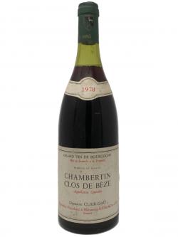 1978 Domaine Clair-Dau Chambertin Clos de Beze Grand Cru
