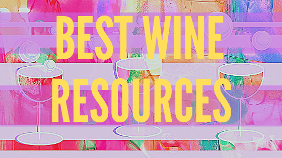 A painting of wine glasses with the words Best Wine Resources overlaid.
