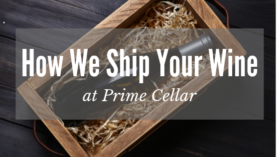 A box of wine with the text How We Ship Your Wine overlaid.